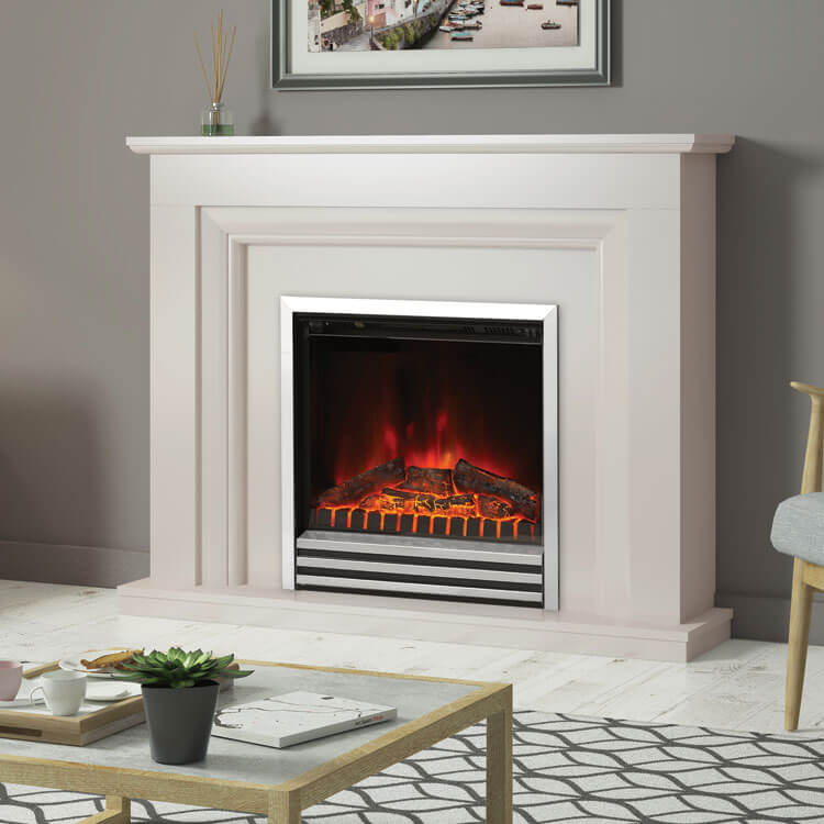 Amorina Electric Fireplace Micro Marble Or Timber Finish