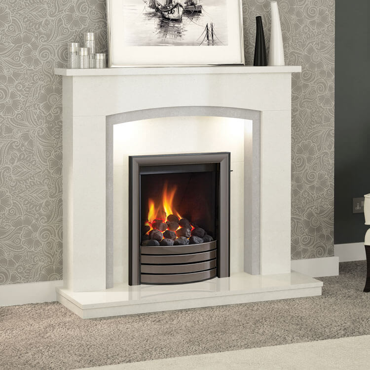 Timara Micro Marble Surround Grey Amp White Elgin And Hall