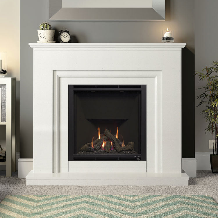 Embleton Gas Fireplace White Micro Marble Elgin And Hall